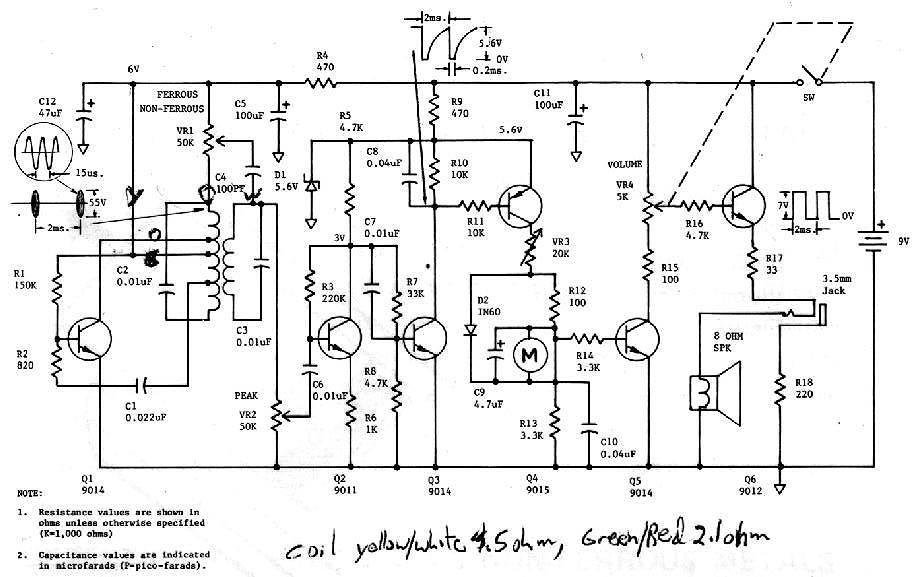 wiring schematic of metal detector bounty hunter golf cart